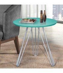 mesa de canto pé prateado c&m decor lacca