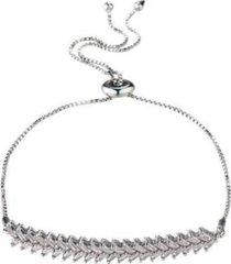 nicole miller double row cubic zirconia slider bracelet