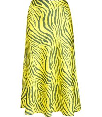 apparis swing zebra print skirt - yellow