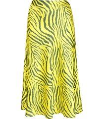 apparis swing zebra print skirt - yellow