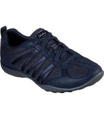 zapatilla breathe - easy - be - relaxed azul marino skechers
