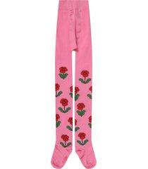 mini rodini fuchsia tights for girl