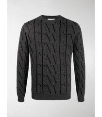 valentino vltn fine-knit jumper