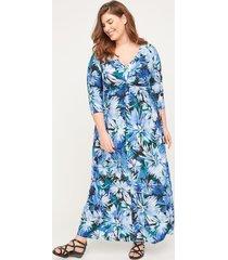 garden walk twist-knot maxi dress