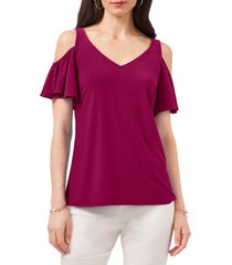 chaus ruffle off the shoulder top, size small in brilliant fuschia at nordstrom