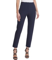 dkny high-rise pleated ankle pants