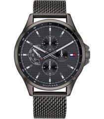 reloj análogo negro tommy hilfiger