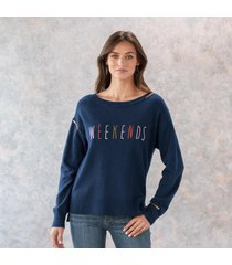 weekends sweater