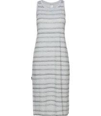 wmns yanni tank midi dress knälång klänning grå icebreaker