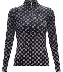 'reflective monogram' long-sleeved top