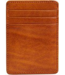 bosca old leather front pocket wallet, size none in saddle at nordstrom