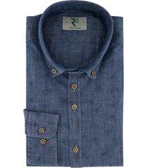 r2 shirt denim donkerblauw