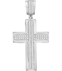 men's diamond (1/3 ct. t.w.) cross pendant in 10k white or yellow gold