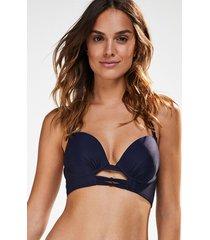 hunkemöller formpressad push-up-bikini med bygel oriental blå