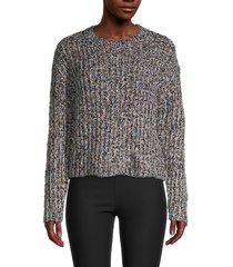 rd style women's knitted long-sleeve sweater - black twist - size l