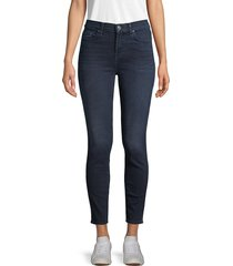 7 for all mankind women's gwenevere high-waist ankle skinny jeans - blue santiago - size 23 (00)