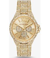 mk orologio camille oversize tonalità oro con pavé - oro (oro) - michael kors