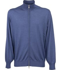 brunello cucinelli cardigan in cashmere and silk with zip