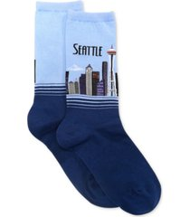 hot sox women's seattle fashion crew socks
