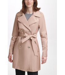 karl lagerfeld paris classic double breasted trench coat