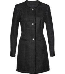 blazer lungo in bouclé (nero) - bpc selection