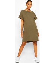 maternity oversized tshirt dress, khaki