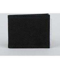 carteira de couro masculina preta