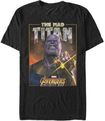 marvel men's avengers infinity war the mad titan short sleeve t-shirt
