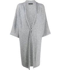 fabiana filippi draped oversized cardigan - grey