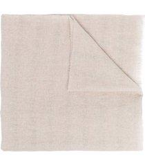 fabiana filippi beige merino-cashmere blend scarf