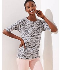 loft petite cheetah print sweatshirt tee