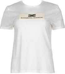 t-shirt met logo opdruk aniek  wit