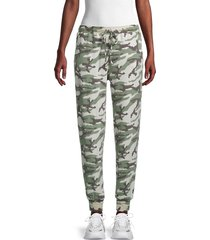 michael stars women's camo-print ankle-length pants - olive multi - size l