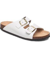 biabetricia buckle sandal shoes summer shoes flat sandals vit bianco