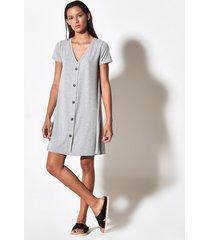 vestido gris portsaid