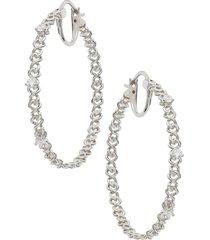 women's nadri luxe chain hoop earrings