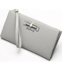 gran capacidad cartera para mujer/ bolso de embrague de-gris