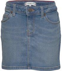 basic denim skirt oclbst kjol blå tommy hilfiger