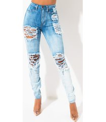 akira happy mood distressed high rise denim jeans