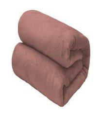 cobertor solteiro camesa flannel loft rosa
