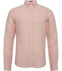slim linen shirt bd overhemd casual roze gant