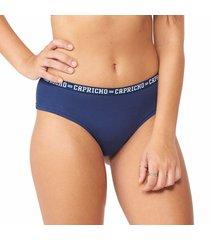 calcinha boy short azul marinho capricho college - 520.024 capricho lingerie boneca azul