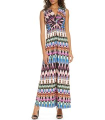 women's eliza j sleeveless knot detail maxi dress