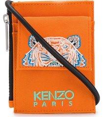 kenzo tiger shoulder strap pouch - orange