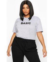 plus 'basic' t-shirt, grijs