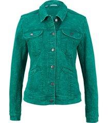 giacca di jeans elasticizzata (verde) - john baner jeanswear