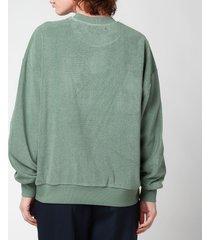 golden goose women's sweatshirt delvina loose crewneck - mylar - s