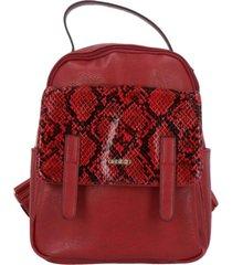 mochila areta casual rojo azaleia