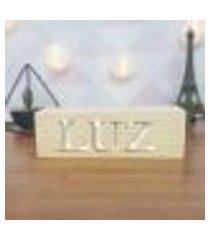 cubo decorativo com letras em acrílico luz único