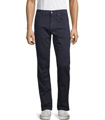 slim-fit french terry jeans